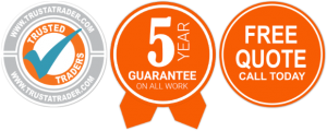 trusted traders - 5 year guarantee